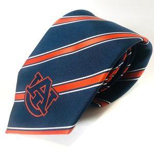 Auburn Tigers Striped Tie Eagles Wings Orange Navy